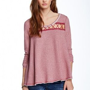 Free People Lacey Love Sweatshirt